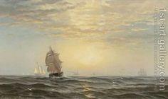 Sunrise At Sea by Edward Moran