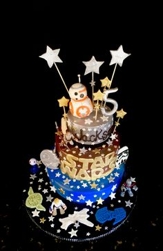 Star Wars Theme Happy Birthday Cake