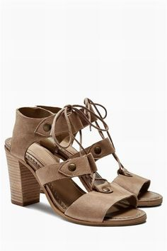 Next Lace Up Leather Sandals