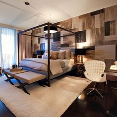 Masculine Bedrooms 30 masculine bedroom ideas evoking style - http://freshome/30