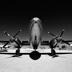 vintage world war two era curtiss C-46 commando cargo plane at the palmdale airpark by eyetwist (Flickr)