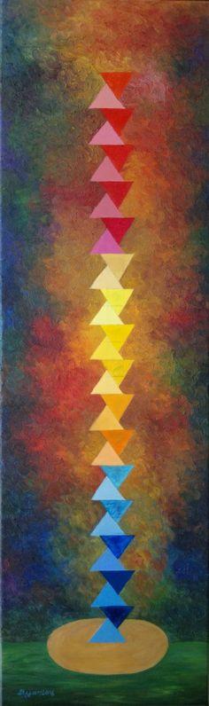 "Saatchi Art Artist Stefan Silvestru; Painting, ""Infinity"" #art #brancusi #sculpture #conceptual"