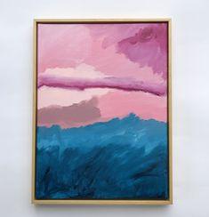 Original acrylic abstract art work Summer Sunset, Floating Frame, Art Work, Bliss, Original Artwork, Abstract Art, The Originals, Canvas, Painting