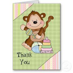 Thank You Monkey Greeting card