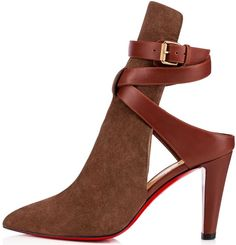 Christian Louboutin Pointipik booties rich chatain suede