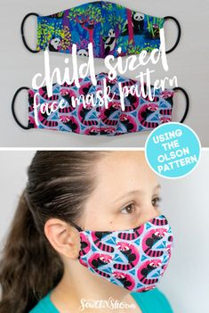 Simple Step By Step Tutorial for the Olson Mask Pattern - including child sizes SewCanShe Free Sewing Patterns and Tutorials Face Masks For Kids, Easy Face Masks, Diy Face Mask, Face Mask For Pimples, Sewing Hacks, Sewing Tutorials, Sewing Projects, Sewing Tips, Tutorial Sewing