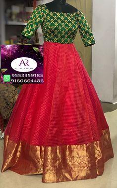 For customising your outfits - whatsapp 9133502232 Kalamkari Dresses, Ikkat Dresses, Girls Frock Design, Long Dress Design, Half Saree Designs, Saree Blouse Designs, Designer Anarkali Dresses, Designer Dresses, Designer Wear