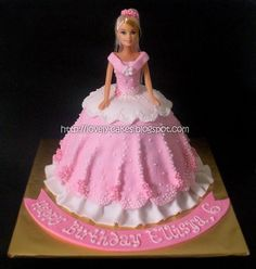barbie doll cakes | Barbie Doll Cake (Fondant frosting)