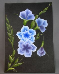 Pintura gestual de flores em cartolina. (o preço se refere à unidade)