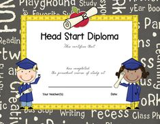 Free Printable Preschool Diploma | Graduation | Pinterest | Free ...