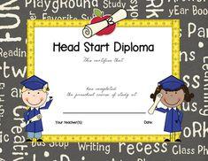 Preschool Graduation Certificate Template | фотоальбом | Pinterest ...