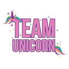 Silhouette Design Store: team unicorn quote