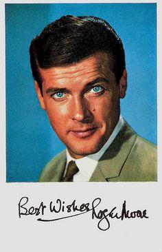 Roger Moore. Vintage collectors card.