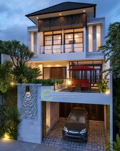 Best Modern Home Architectural Styles and Designs.Most people like several home architectural styles. Modern Architecture House, Architecture Design, Landscape Architecture, Architect Design House, Modern House Facades, Architectural Styles, Style At Home, House Bali, Modern Tropical House