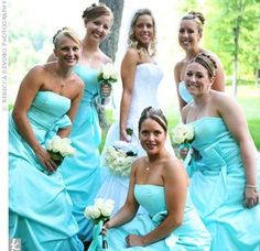 Loveee the brides maids colour! Plus a little grey somewhere in there!:) Loveee the brides maids co Bridesmade Hair, Maids, Strapless Dress, Colour, Wedding Dresses, Grey, Modern, Projects, Fashion