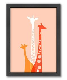 Another great find on #zulily! Giraffes Trio Wall Art #zulilyfinds
