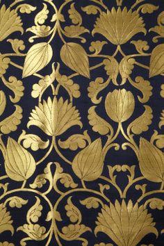 Kinkhab- satin navy blue fabric