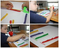 worm pins for preschool  | Simple Apple Learning Activities for Toddlers & Preschoolers