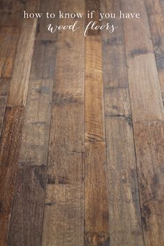 Discovering a Diamond in the Rough | How to Know if You Have Wood Floors. Great house hunting tip!