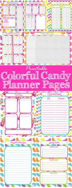 Are you a Happy Planner addict? Organize your life and dominate your finances with these colorful candy planner sheets for your Big Happy Planner.