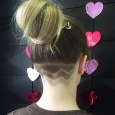 top knot with nape undercut