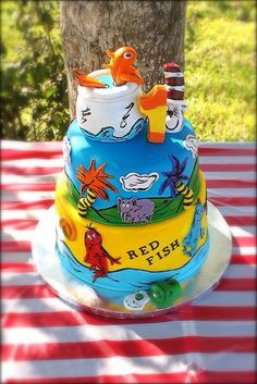 Dr Seuss Childrens Birthday Cakes This is PERFECT And probably