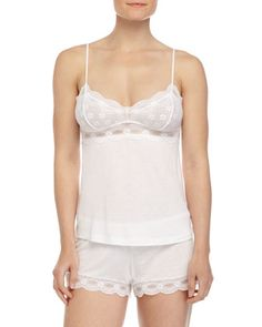 India+Lace-Trim+Camisole+&+Drawstring+PJ+Shorts+by+Eberjey+at+Neiman+Marcus.