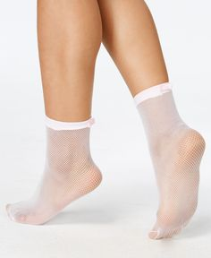 kate spade new york Women's Fishnet Bow Anklet Socks