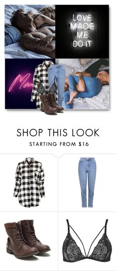 """""""""""Your heart's against my chest, your lips pressed in my neck. I'm falling for your eyes, but they don't know me yet.  And with a feeling I'll forget, I'm in love now..."""" - Ed Sheeran"""" by eclectic-chic ❤ liked on Polyvore featuring Topshop"""