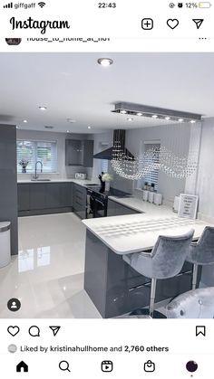 Luxury Kitchen Design, Kitchen Room Design, Home Room Design, Dream Home Design, Home Decor Kitchen, Home Interior Design, House Design, Dream House Interior, Luxury Homes Dream Houses
