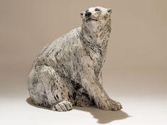 Polar Bear Sculpture - Nick Mackman Animal Sculpture