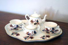 Crown Staffordshire Children's Miniature Tea Set by MutchEclectic