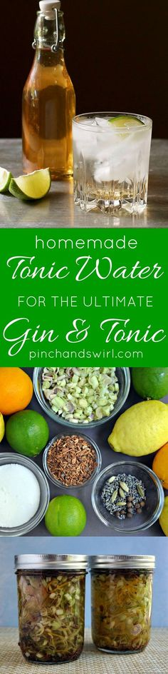 Homemade Tonic Water for the Ultimate Gin and Tonic | Homemade Tonic Water for the Ultimate Gin and Tonic! #cocktails #easyrecipes #ginandtonic