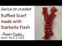 Starbella Yarn: http://www.maggiesCrochet.com/Starbella-p-2010.html#.UMtt-HflaVo.  How do I Crochet a scarf?  If you have asked yourself this question here is the answer. Crochet, Crochet, Crochet but an easy Crochet pattern for a scarf works well for many of us.  If you are looking for the answer what is Crochet this pattern is not for you. Thi...