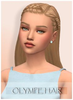 The Sims 4 Maxis Match Girls Hair! - All About Hairstyles Sims 4 Teen, Sims 4 Toddler, Toddler Hair, Maxis, Los Sims 4 Mods, Sims 4 Game Mods, Sims 4 Mm Cc, Sims Four, Sims 4 Mods Clothes