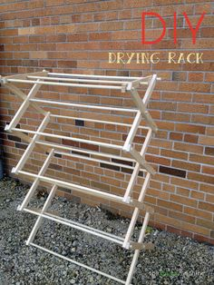 DIY Drying Rack // The Haas Machine Tired of those cheaply made drying racks? Make your own with this easy DIY project.