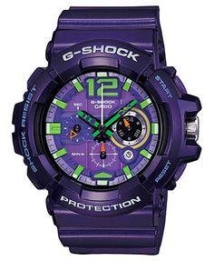 G-Shock Men's Chronograph Purple Resin Strap 55x53mm GAC110-6A