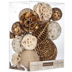 Gold & Cream Decorative Spheres