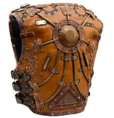 SteamWarrior leather motorcycle biker vest by SouthCrafting
