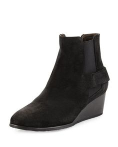 Oddly+Suede+Wedge+Bootie,+Hammer+Black+by+Coclico+at+Neiman+Marcus.