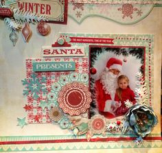 Santa first time at pre-school
