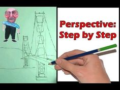 Perspective Step by Step- How to Draw a Bridge❤️