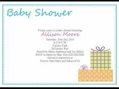 Baby Shower Invitations Wording | Baby Shower Invitations Wording Boy