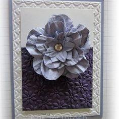 Precious Purple Flower Card | AllFreePaperCrafts.com
