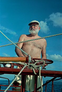 Hemingway enjoyed fishing the Gulf Stream,off Key West. Hemingway lived there(Key West) for 16 years before moving to Cuba.