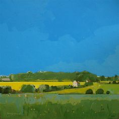 group-eight: Hales Green, Norfolk Fred Ingrams Dreaming of Summer on another grey cold day! Abstract Line Art, Abstract Landscape Painting, Landscape Paintings, Green Landscape, Landscape Art, Minimalist Painting, Art Station, Traditional Paintings, Arte Floral