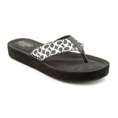 Coach Women's Jessalyn Webbing Thong Sandals in Black / Ivory Size 5 Coach,http://www.amazon.com/dp/B00DHVOYZ6/ref=cm_sw_r_pi_dp_Xuemtb011XJC6ASD