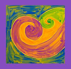 The Maori culture of New Zealand creates beautiful pieces of artwork featuring Koru designs. Master this motif in a colorful painting.