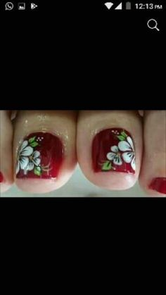 Cute Pedicures, Pedicure Nails, French Nail Designs, Toe Nail Designs, Vanessa Nails, Cute Pedicure Designs, New Nail Art Design, Pretty Toe Nails, Wedding Nails Design