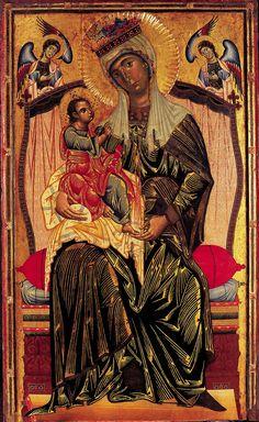 Coppo di Marcovaldo,  Madonna col bambino, 1268, tavola; Orvieto, Chiesa dei Servi